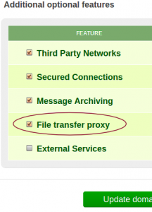 """Enable """"File transfer proxy"""" feature on your plan"""